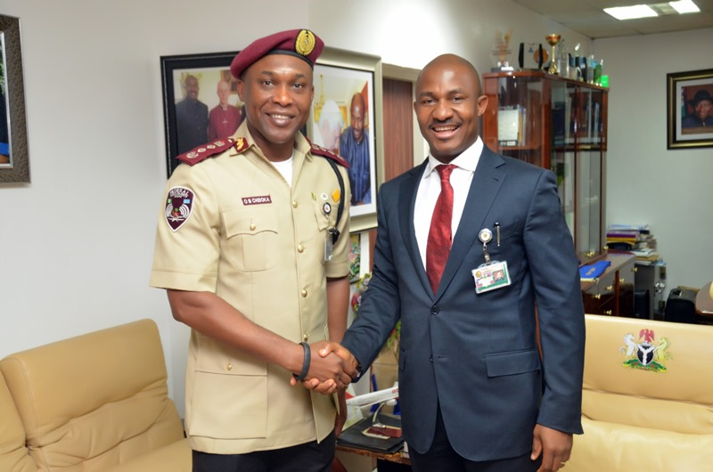 COURTESY VISIT TO ES NCPC BY FRSC CORPS MARSHAL OSITA CHIDIOKA